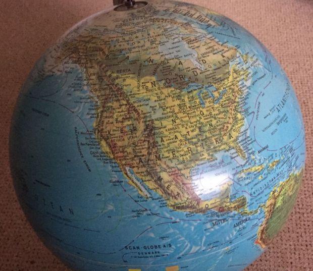 Die Nordhalbkugel aus Sicht von T